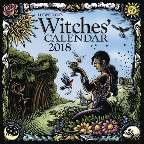 dragon witches 2018 calendar llewellyn s 2018 witch calendar witch gifts fairyglen com