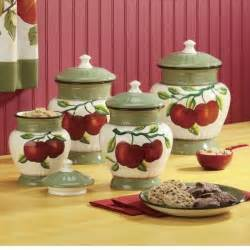Apple Canisters For The Kitchen canisters apple on branch 4 piece set the apple orchard