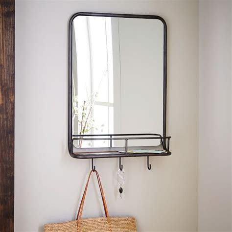entryway mirror entryway mirror hooks west elm