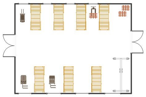 warehouse receiving layout warehouse with conveyor system floor plan flow chart