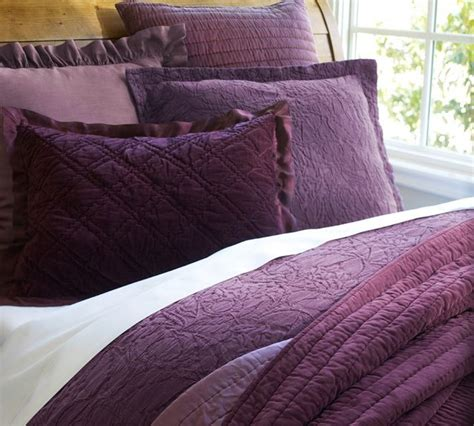 plum coverlet rustic luxe washed velvet silt duvet cover plum