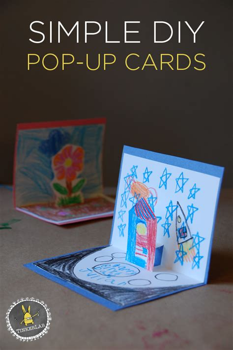 How To Make Handmade Pop Up Cards - how to make pop up cards tinkerlab