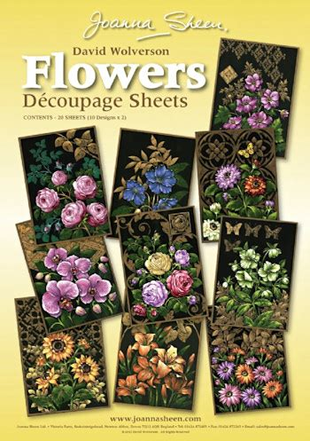 Joanna Sheen Decoupage - joanna sheen david wolverson decoupage sheets flowers