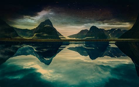 fjord water nature landscape milford sound new zealand mountain
