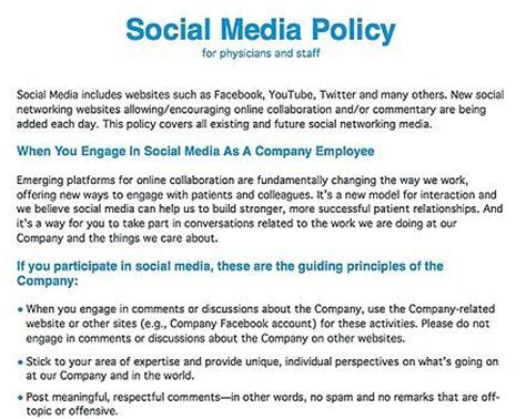 social media policy template for employees hlwiki canada social media policy social media and