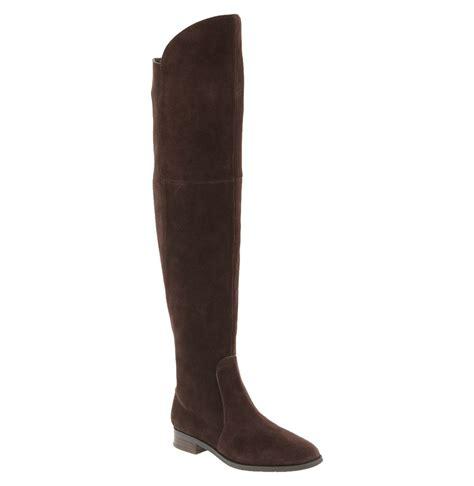 franco sarto tripod the knee boot in brown oxford