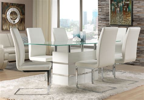 Glass Dining Table White Chairs Chair Fabulous Glass Dining Table And White Leather