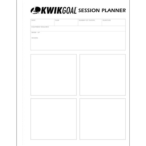 session plan template for product image