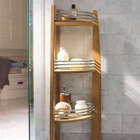 Corner Caddy Shelf by Teak Corner Shelf Caddy Traditional Shower Caddies