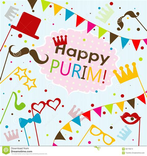 purim card template template purim greeting card vector stock