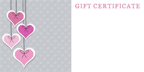 gift vouchers template anniversary gift certificate templates