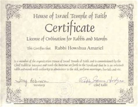 ordination certificate templates search results for ordained pastor certificate