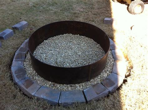 firepit rings metal ring pit pit design ideas