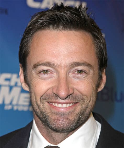 Hugh Jackman Hairstyle by Hugh Jackman Casual Hairstyle Medium