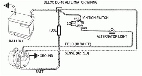 cs144 alternator one wire diagram cs144 alternator wiring