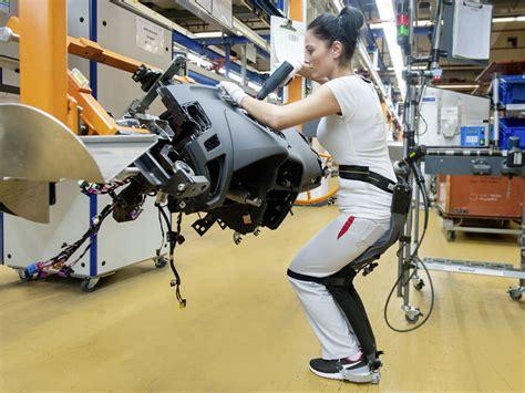 noonee testing chairless chair exoskeleton  audi production plants robohub