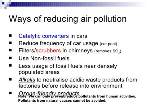 Ways To Avoid Air Quality Chapter 22 Our Impact On The Ecosystem Lesson 2 Air Pollution