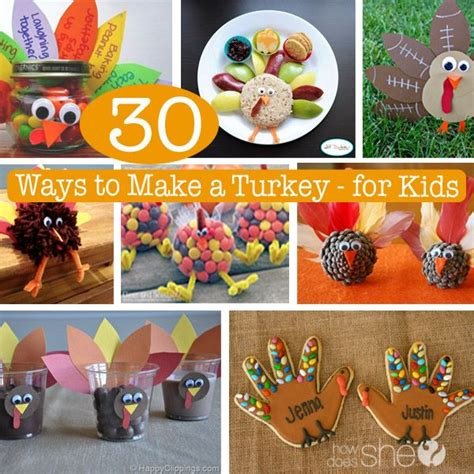 How To Make A Thanksgiving Turkey Out Of Construction Paper - 30 ways to make a turkey for crafts crafting and