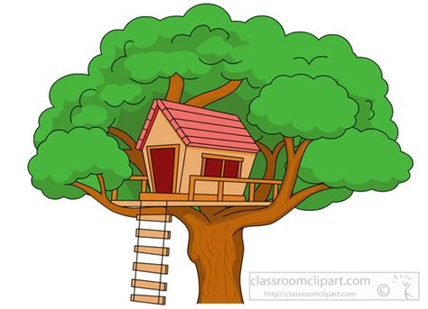 tree house clipart architecture treehouse in large tree with ladder clipart 5914 classroom clipart