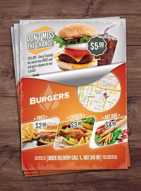 elegant fast food flyer designs word psd ai eps