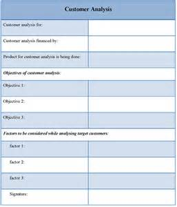 Customer Template by Analysis Template For Customer Sle Of Customer