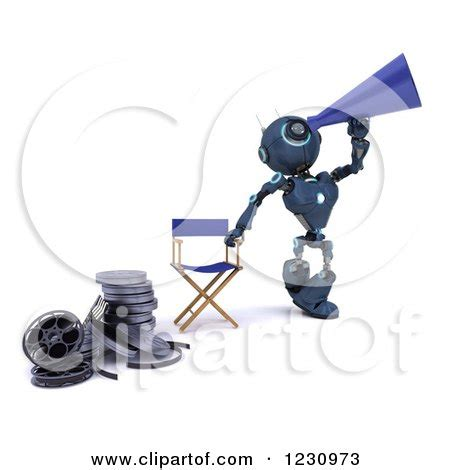 robot film director name royalty free filming illustrations by kj pargeter page 1