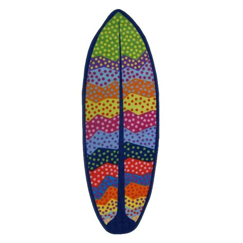 la rug la rug surf time wavy multi colored 16 in x 47 in accent rug st 26 1647 the home depot