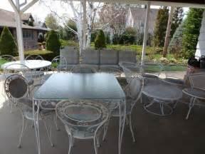Vintage wrought iron patio furniture 21 pieces ebay