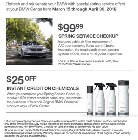 Bmw Service Coupons by Bmw Service Parts Specials Flemington Bmw Dealer In