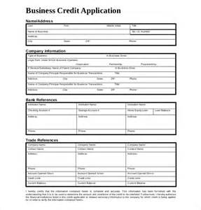 Template Credit 15 Credit Application Templates Free Sle Exle Format Free Premium Templates