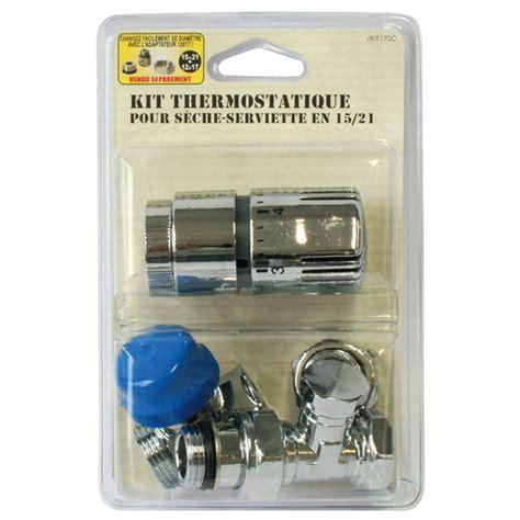 Robinet Thermostatique Seche Serviette by Kit Thermostatique 15x21 Pour S 232 Che Serviette Skit170c