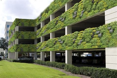 modern  level parking garage  located