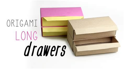 How To Make Paper Drawers - origami drawer organizer origami maker easy