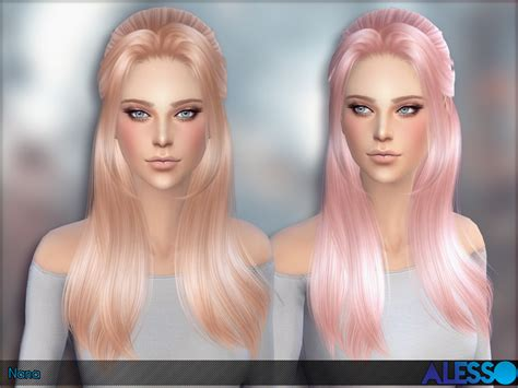 sims 4 hairstyles sims 4 hairs the sims resource nana hairstyle by alesso