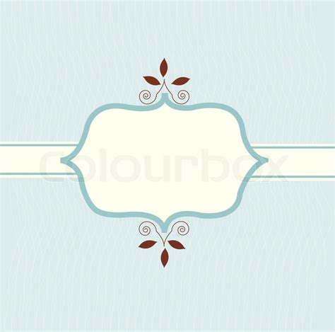 card with logo template vintage invitation card and logo template stock vector