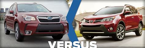 Toyota Rav4 Model Comparison 2015 Subaru Forester Vs 2015 Toyota Rav4 Model Comparison