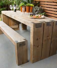 Building Plans For Wooden Picnic Table by How To Create An Outdoor Table And Benches Better Homes And Gardens