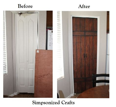 Faux Barn Door Simpsonized Crafts Turning Bi Fold Doors Into Faux Barn Door Tutorial