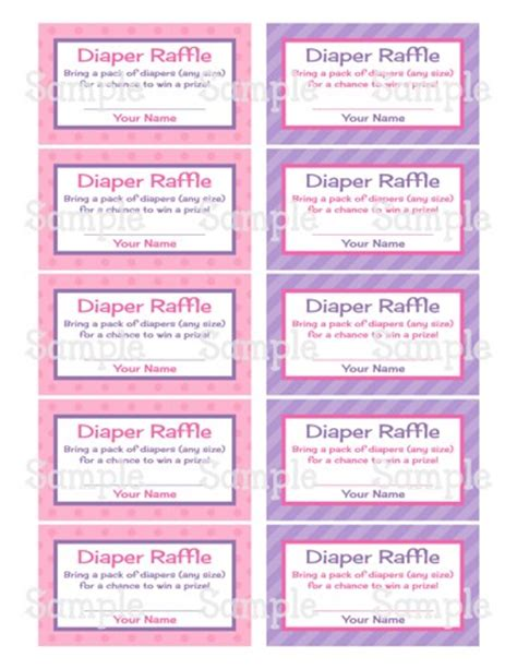 printable raffle tickets for students artfire markets