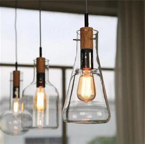 compre vidrio de laboratorio botella colgante luces de luz