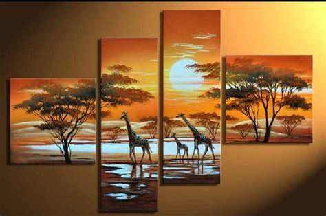 imagenes de jirafas al oleo cuadros pintados a mano cuadros y pinturas 3 jirafas
