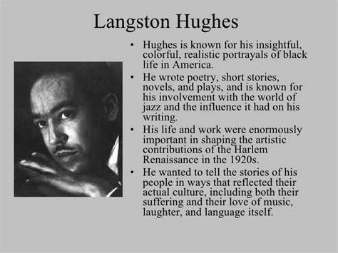 biography of langston hughes and the harlem renaissance harlem renaissance presentation