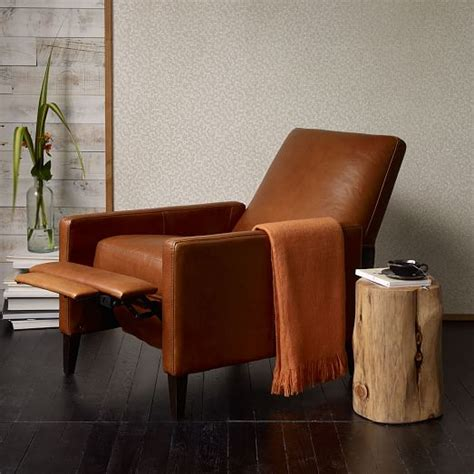 west elm recliner sedgwick leather recliner west elm