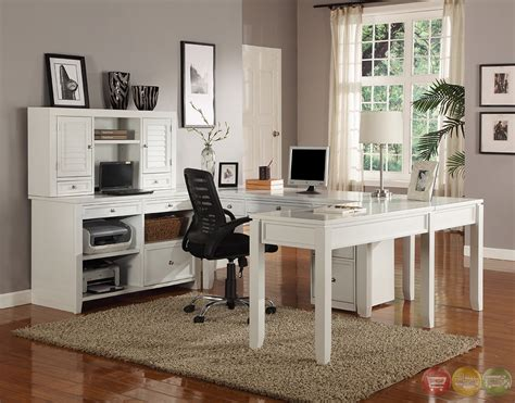 white u shaped desk boca transitional white modular u shaped office furniture