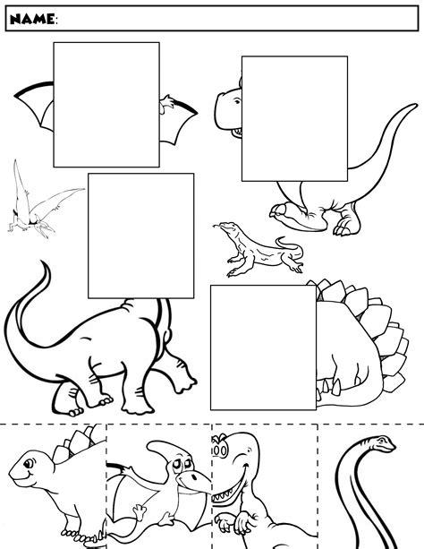 dinosaur color and match 1 dinosauri fossili e