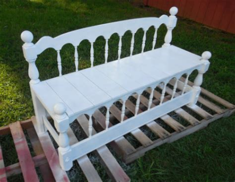 bench made from headboard and footboard bonnie s complete headboard bench fool4peppers