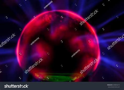 Tesla Sphere Plasma Static Electricity On Tesla Sphere Stock Photo