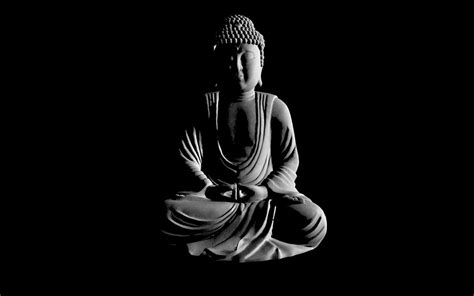 black and white wallpaper of god buddhism wallpaper and background 1680x1050 id 176849