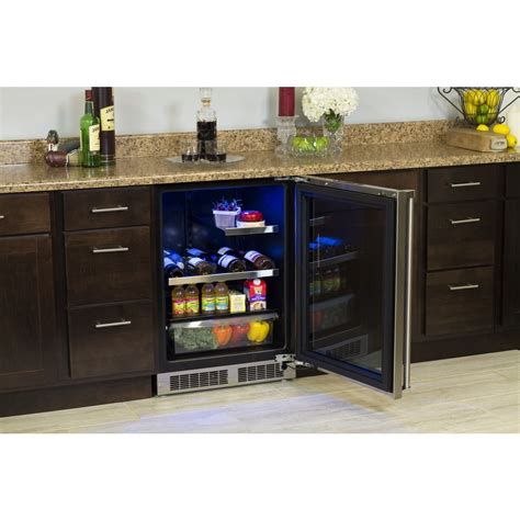 under cabinet beverage refrigerator mp24brg3rs marvel professional 24 quot food wine and