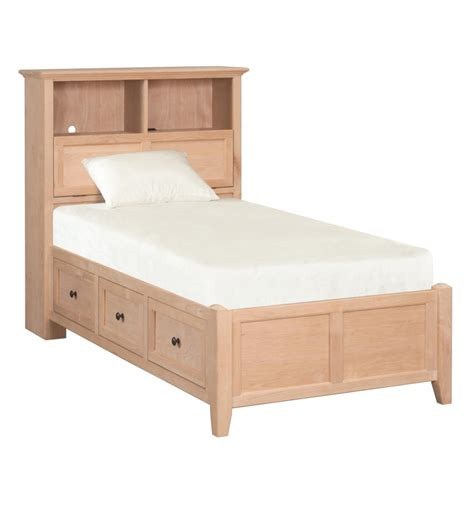 Bookcase Storage Bed by Bookcase Storage Beds Wood N Things Furniture Gretna La